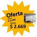 Cortina Roller Madras Blanco - 0.85 X 2.35