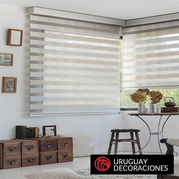 Cortinas Dia Y Noche Blanco Se Realizan A Medida Uruguay - Cortinas-y-decoraciones